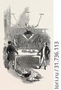 Купить «THE GREAT DUTCH EQUILIBRIST'S BOTTLE FEAT, AT ASTLEY'S, 1846», фото № 31736113, снято 20 июня 2012 г. (c) age Fotostock / Фотобанк Лори