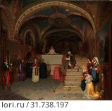 Купить «Pope Gregory XVI Visiting the Church of San Benedetto at Subiaco, 1843, Oil on canvas, 49 1/4 x 55 3/8 in. (125.1 x 140.7 cm), Paintings, Jean-François...», фото № 31738197, снято 26 апреля 2017 г. (c) age Fotostock / Фотобанк Лори