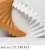 Купить «Abstract geometric installation over white», иллюстрация № 31749413 (c) EugeneSergeev / Фотобанк Лори