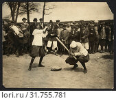 New York female 'Giants' - Miss McCullum catcher and Miss Ryan at bat, USA. a female batter ducking under a high pitch and a female catcher standing with... (2015 год). Редакционное фото, фотограф Artokoloro / age Fotostock / Фотобанк Лори