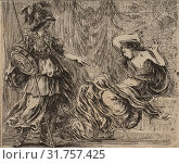 Pallas et Arachne, from 'Game of Mythology' (Jeu de la Mythologie), 1644, Etching, first state of five, Sheet: 1 13/16 × 2 3/16 in. (4.6 × 5.6 cm), Prints... (2017 год). Редакционное фото, фотограф © Copyright Artokoloro Quint Lox Limited / age Fotostock / Фотобанк Лори