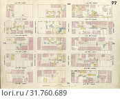 Купить «Plate 77: Map bounded by East 42nd Street, Second Avenue, East 37th Street, Fourth Avenue. 1857, 1862, Perris and Browne, New York, USA.», фото № 31760689, снято 10 августа 2014 г. (c) age Fotostock / Фотобанк Лори