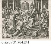 Feeding the hungry, Pieter Nagel, Gerard P. Groenning, in or before 1571 (2014 год). Редакционное фото, фотограф Artokoloro / age Fotostock / Фотобанк Лори