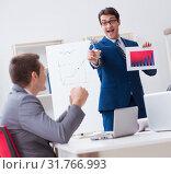 Купить «Business meeting with employees in the office», фото № 31766993, снято 13 декабря 2017 г. (c) Elnur / Фотобанк Лори