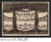 Stefano Della Bella after Alfonso Parigi II (Italian, 1610 - 1664), Sesta Scena di Tutto Cielo, 1637, etching on laid paper (2011 год). Редакционное фото, фотограф Artokoloro / age Fotostock / Фотобанк Лори