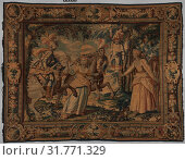 The Combat of Manricardo and Zerbino from a set illustrating Ariosto's Orlando Furioso, 1630–50, French, Paris, Wool, silk (16-18 warps per inch, 6-7... (2017 год). Редакционное фото, фотограф © Copyright Artokoloro Quint Lox Limited / age Fotostock / Фотобанк Лори