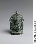 Å•† é'銅觶, Miniature Wine Cup (Zhi), Shang dynasty, early Anyang period (ca. 1300–ca. 1050 B.C.), China, Bronze, H. 4 1/8 in. (10.5 cm), Metalwork (2017 год). Редакционное фото, фотограф © Copyright Artokoloro Quint Lox Limited / age Fotostock / Фотобанк Лори