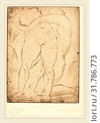 Wilhelm Lehmbruck, Passion II (Leidenschaft II), German, 1881-1919, 1914, drypoint (2011 год). Редакционное фото, фотограф Artokoloro / age Fotostock / Фотобанк Лори