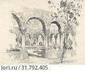 Купить «View of Cuxa Cloisters in the Garden of Barnard's Cloisters, 1927, Charcoal, Sheet: 14 3/8 × 13 in. (36.5 × 33 cm), Drawings, Edward Howard Suydam (American...», фото № 31792405, снято 27 апреля 2017 г. (c) age Fotostock / Фотобанк Лори