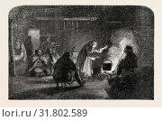 INTERIOR OF A WALLACHIAN HUT, 1854 (2013 год). Редакционное фото, фотограф Artokoloro / age Fotostock / Фотобанк Лори