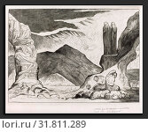 William Blake (British, 1757 - 1827), The Circle of the Falsifiers: Dante and Virgil Covering their Noses because of the stench, 1827 (2010 год). Редакционное фото, фотограф Artokoloro / age Fotostock / Фотобанк Лори
