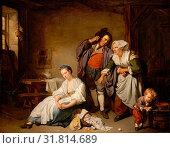 Broken Eggs, 1756, Oil on canvas, 28 3/4 x 37 in. (73 x 94 cm), Paintings, Jean-Baptiste Greuze (French, Tournus 1725–1805 Paris) (2017 год). Редакционное фото, фотограф © Copyright Artokoloro Quint Lox Limited / age Fotostock / Фотобанк Лори