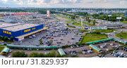 Купить «Московская область, Химки, вид сверху на торговый комплекс «Мега»», фото № 31829937, снято 18 июля 2019 г. (c) glokaya_kuzdra / Фотобанк Лори