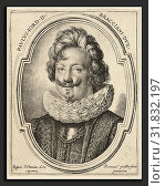Ottavio Leoni, Paolo Giordano Orsini II, Italian, c. 1578 - 1630, engraving (2013 год). Редакционное фото, фотограф Artokoloro / age Fotostock / Фотобанк Лори