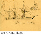 Купить «Revenue cutter, between 1860 and 1865, drawing on cream paper pencil, 8.8 x 11.8 cm. (sheet), 1862-1865, by Alfred R Waud, 1828-1891, an american artist...», фото № 31841509, снято 7 августа 2014 г. (c) age Fotostock / Фотобанк Лори