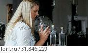 Купить «Female worker working in distillery factory 4k», видеоролик № 31846229, снято 29 августа 2018 г. (c) Wavebreak Media / Фотобанк Лори
