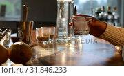 Купить «Female worker having gin in distillery factory 4k», видеоролик № 31846233, снято 29 августа 2018 г. (c) Wavebreak Media / Фотобанк Лори