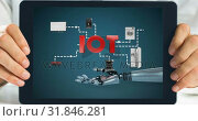 Купить «Digital Tablet showing robot», видеоролик № 31846281, снято 20 ноября 2018 г. (c) Wavebreak Media / Фотобанк Лори