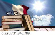 French Flag under the sunshine and blue sky Video. Стоковое видео, агентство Wavebreak Media / Фотобанк Лори