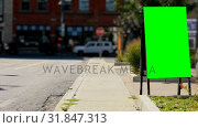 Купить «Empty menu board on the street 4k», видеоролик № 31847313, снято 24 сентября 2018 г. (c) Wavebreak Media / Фотобанк Лори