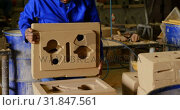 Купить «Worker working in foundry workshop 4k», видеоролик № 31847561, снято 27 сентября 2018 г. (c) Wavebreak Media / Фотобанк Лори
