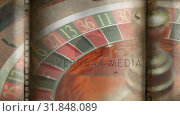 Купить «Roulette board turning video», видеоролик № 31848089, снято 5 декабря 2018 г. (c) Wavebreak Media / Фотобанк Лори
