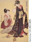 JA?Â'bon no zu = [Picture of the upper class], Kitagawa, Utamaro (1753?-1806), (Artist), Date Created: ca. 1793-ca.1804 (2016 год). Редакционное фото, фотограф Artokoloro / age Fotostock / Фотобанк Лори