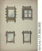 Купить «Design for Four Hanging Mirrors, 19th century, Ink, watercolor and gouache, Anonymous, British, 19th century», фото № 31866069, снято 26 апреля 2017 г. (c) age Fotostock / Фотобанк Лори