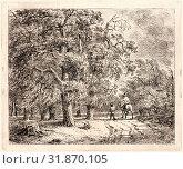 Купить «Jean Baron (aka Balthazar Jean) (French, 1788 - 1869). Cavaliers sous Bois, 19th century. Etching.», фото № 31870105, снято 8 июля 2013 г. (c) age Fotostock / Фотобанк Лори