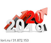 Купить «2020 2019 change concept. Represents the new year symbol with graph.», иллюстрация № 31872153 (c) Маринченко Александр / Фотобанк Лори