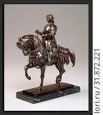 Купить «Antoine-Louis Barye, Charles VII the Victorious on Horseback, French, 1795 - 1875, model c. 1844, cast 1860-1909, bronze», фото № 31872221, снято 6 августа 2013 г. (c) age Fotostock / Фотобанк Лори