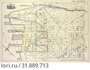Купить «Vol. 6. Plate, K. Map bound by Bushwick Inlet, N.14th St., Fifth St., N.6th St., East River, Including Banker St., N.13th St., N.12th St., N.11th St.,...», фото № 31889713, снято 10 августа 2014 г. (c) age Fotostock / Фотобанк Лори