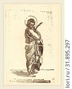 Купить «Jacques Stella, French (1596-1657), Saint Bartholomew, woodcut», фото № 31895297, снято 6 августа 2014 г. (c) age Fotostock / Фотобанк Лори