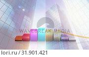 Купить «Digital composite of buildings against illustration of bar graphs», видеоролик № 31901421, снято 16 января 2019 г. (c) Wavebreak Media / Фотобанк Лори