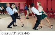 Купить «People practicing jive», фото № 31902445, снято 4 октября 2018 г. (c) Яков Филимонов / Фотобанк Лори