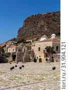 Купить «Fortified City Monemvasia (Laconia, Greece, Peloponnese)», фото № 31904121, снято 15 июня 2019 г. (c) Татьяна Ляпи / Фотобанк Лори