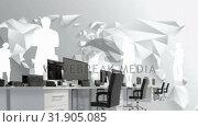 Купить «Office and silhouettes of man», видеоролик № 31905085, снято 4 февраля 2019 г. (c) Wavebreak Media / Фотобанк Лори