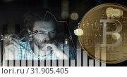 Understanding the cryptocurrency trend 4k. Стоковое видео, агентство Wavebreak Media / Фотобанк Лори