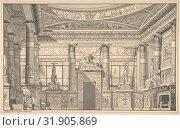 Купить «Design for an Egyptian-style Interior, 1810, Pen and black ink, gray wash, sheet: 8 3/4 x 13 3/4 in. (22.2 x 34.9 cm), Drawings, Gaetano Landi (Italian...», фото № 31905869, снято 22 апреля 2017 г. (c) age Fotostock / Фотобанк Лори