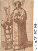 Купить «Saint Lawrence, 1619, Pen and brown ink and wash, with squaring in black chalk, 11 3/16 x 7 3/16in. (28.4 x 18.2cm), Drawings, Bartolomeo Cesi (Italian...», фото № 31907169, снято 22 мая 2017 г. (c) age Fotostock / Фотобанк Лори
