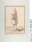Abbé Jean-Antoine Nollet, 1674–1755, Pen and brown ink, over traces of graphite or lead, 11 7/8 x 8 1/2in. (30.2 x 21.6cm), Drawings, Pier Leone Ghezzi... (2017 год). Редакционное фото, фотограф © Copyright Artokoloro Quint Lox Limited / age Fotostock / Фотобанк Лори