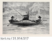 Купить «FISHING ON THE RISTIGOUCHE, IN CANADA: DRAWING BY PRINCESS LOUISE, IN THE EXHIBITION OF THE SOCIETY OF PAINTERS IN WATER COLOURS, 1880», фото № 31914517, снято 3 января 2013 г. (c) age Fotostock / Фотобанк Лори