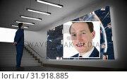 Купить «Businessman looking at projector screen with pictures», видеоролик № 31918885, снято 5 марта 2019 г. (c) Wavebreak Media / Фотобанк Лори