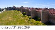 Aerial view of Avila walls (2019 год). Стоковое фото, фотограф Яков Филимонов / Фотобанк Лори