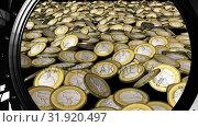 Купить «Coins inside a vault», видеоролик № 31920497, снято 13 февраля 2019 г. (c) Wavebreak Media / Фотобанк Лори