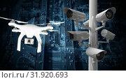 Купить «Traffic surveillance camera», видеоролик № 31920693, снято 5 марта 2019 г. (c) Wavebreak Media / Фотобанк Лори