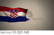 Купить «Croatian flag waving in the wind», видеоролик № 31921145, снято 5 марта 2019 г. (c) Wavebreak Media / Фотобанк Лори