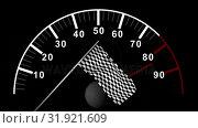 Купить «Car counter against checkered flag », видеоролик № 31921609, снято 5 марта 2019 г. (c) Wavebreak Media / Фотобанк Лори