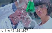 Купить «Scientists studying a chemical», видеоролик № 31921937, снято 5 марта 2019 г. (c) Wavebreak Media / Фотобанк Лори