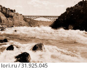 Купить «Niagara Rapids and Michigan Central Cantilever bridge, Jackson, William Henry, 1843-1942, Rapids, Railroad bridges, United States, New York (State), Niagara River, Canada, Ontario, Niagara River, 1900», фото № 31925045, снято 18 декабря 2010 г. (c) age Fotostock / Фотобанк Лори